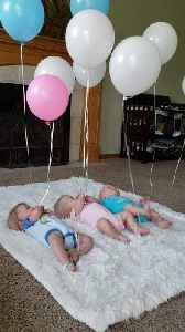 Triplets Playing with Balloons [Video]