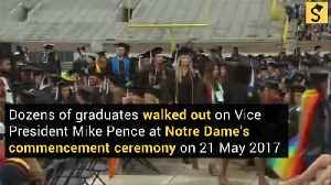 Graduates Walk Out on Pence at Notre Dame Commencement [Video]