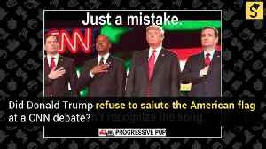 Donald Trump Doesn't Salute the Flag? [Video]