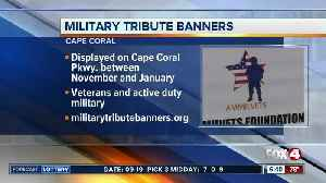 Cape Coral military tribute banners [Video]