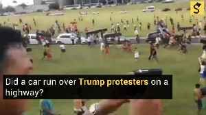 Did a Car Run Over a Trump Protester on a Highway? [Video]