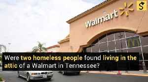 Homeless Couple Found Living in Walmart Attic with Hot Plate, Meth Lab, and 42″ LED TV [Video]