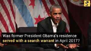 Was a Search Warrant Just Executed at the Obama Residence? [Video]