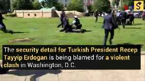 Protesters Beaten in 'Brutal Attack' During Turkish President's United States Visit [Video]