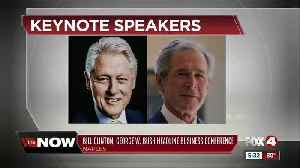 Former presidents Bush and Clinton to attend Naples conference [Video]