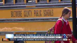 Officials may extend Baltimore County Public School day by 15 minutes [Video]