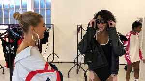 Winnie Harlow Hangs With Hailey Baldwin and Dons Diamonds During London Fashion Week [Video]