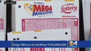 Mega Millions Jackpot On The Rise Again To $275 Million [Video]