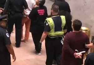 Protesters Against Kavanaugh Confirmation Occupy Senate With 'We Believe Anita Hill' Chants [Video]