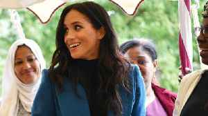 Meghan Markle Dons Stylish Blue Coat To Latest Outing [Video]