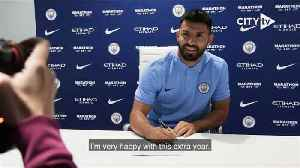 Aguero extends Man City contract to 2021 [Video]