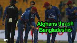 Asia Cup 2018 | Afghanistan thrash Bangladesh by 136 runs [Video]