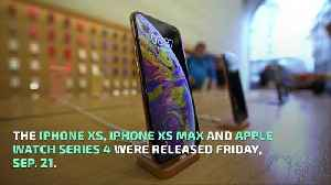Customers Line Up for iPhone XS Launch [Video]