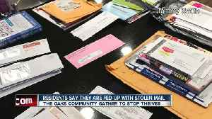 Residents say they are fed up with stolen mail [Video]