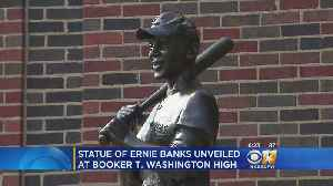 Ernie Banks Statue Unveiled At Booker T. Washington [Video]
