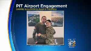 Couple Gets Engaged At Pittsburgh Airport Baggage Claim [Video]