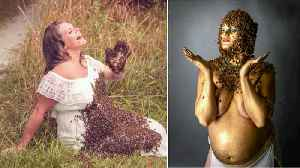 Pregnant Ohio Mom Poses With 40,000 Bees Again in Maternity Photo Shoot [Video]