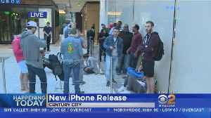 Apple Fans Line Up To Be First To Buy New iPhone [Video]