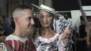 Jeremy Scott Explains His Clever New Moschino Collection, With a Little Help from Bella Hadid and Joan Smalls [Video]