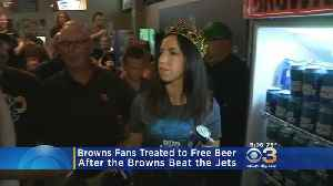 Browns Fans Treated To Free Bud Light Beer For Win Against Jets [Video]