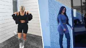 Kim vs Kylie: Who Can Rock Leggings The Best? [Video]