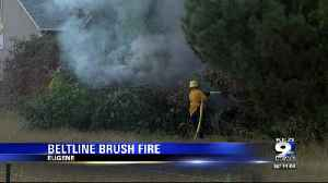 Fire breaks out next to Beltline in Eugene [Video]