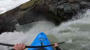 German kayaker becomes first person to run infamous Iceland waterfall [Video]