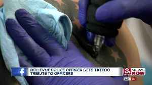 Bellevue police officer gets tattoo tribute to officers [Video]