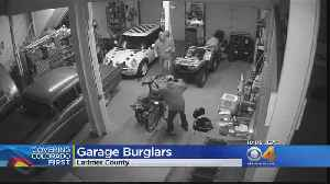 Thieves Target Detached Garage, Make Off With Harley-Davidson [Video]