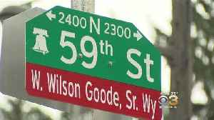 Protesters Gather During Street Renaming Ceremony For Former Mayor Goode [Video]