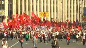 Russians rally against changes to retirement age [Video]