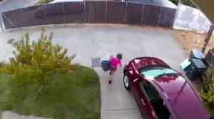 Security Camera Captures Woman Leaving Baby in Driveway for Hours, Family Says [Video]