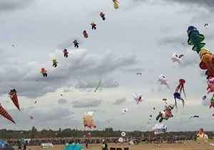 Dozens of Whimsical Kites Drift in the Skies Above Berlin During Drachenfest [Video]