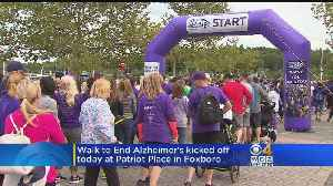 Walk To End Alzheimer's Held At Patriot Place In Foxboro [Video]