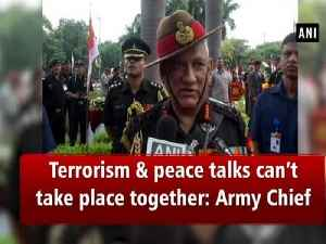 Terrorism and peace talks can't take place together: Army Chief [Video]