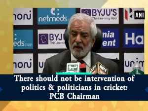 There should not be intervention of politics & politicians in cricket: PCB Chairman [Video]