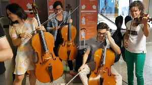 Passengers delayed at Geneva airport treated to impromptu concert [Video]