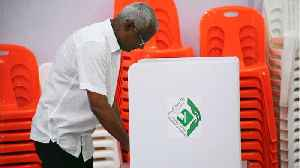 News video: Opposition Candidate Takes Early Lead In Maldives Presidential Election