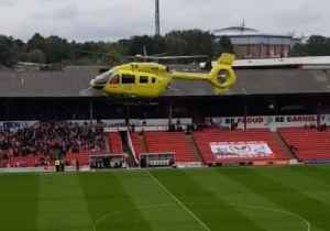 Helicopter Lands in Barnsley Stadium After Medical Emergency Disrupts Game [Video]