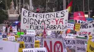 Thousands of Spanish retirees protest over pensions [Video]