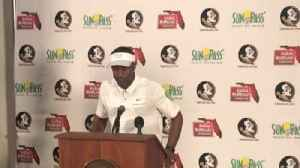 Willie Taggart after beating Northern Illinois [Video]