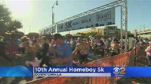 10th Annual 5K Run Held To Benefit Homeboy Industries [Video]