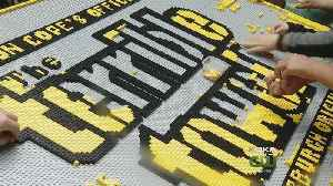 Terrible Towel Made Of 34K Lego Pieces Completed At STEM Fest [Video]