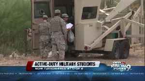 UA reduces tuition for active-duty undergrads [Video]