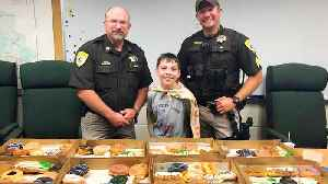 Boy Travels Across the Country Serving Doughnuts to Police Officers [Video]