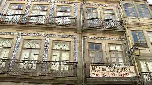 Lisbon landlords evict local residents in favour of tourism [Video]