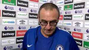 Sarri 'not happy with result' [Video]