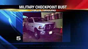 Dallas Pick-Up Truck Busted During Inspection at Tamaulipas Military Checkpoint [Video]