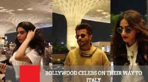 Bollywood Celebs On Their Way To Italy [Video]