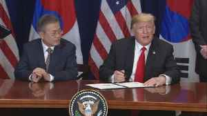 Trump signs trade pact with S. Korea's Moon [Video]